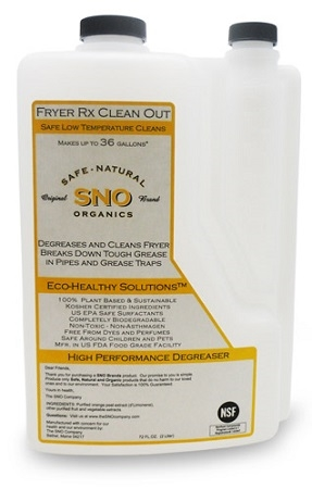 SNO Clean Out Degreaser a Green product to use in Industrial