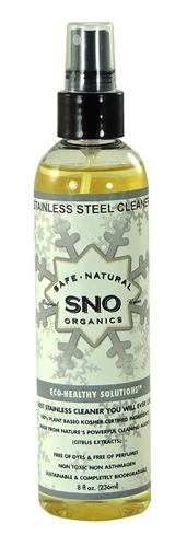 Green Cleaner Specially Formulated for types of metals, Stainless, Chrome, Copper, Silver and more. SNO Stainless Rx will clean and  make everything sparkle like brand new. Perfect for showroom kitchens, bathroom stalls, elevators and highly visible areas